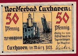 Allemagne 1 Notgeld 50 Pfenning  Stadt Luxhaven  (RARE )  Dans L 'état Lot N °5050 - [ 3] 1918-1933: Weimarrepubliek
