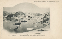 """Swedish North Pole Expedition Andrée 1897 """" Virgobay """" And """" Andrée's Station """" Ile Des Danois Midnight Balloon Picture - Groenland"""