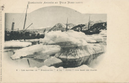 """Swedish North Pole Expedition Andrée 1897  Ship """" Svensksund """" And """" Virgo """" Blocked In Ice - Groenland"""