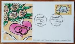 FDC 1999 - YT N°3229 - MARIAGE / OUI - STRASBOURG - FDC