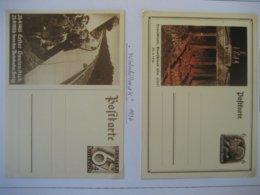 Deutsches Reich 1933/36- Ganzsachen Deutschland über Alles P 250, Winterhilfswerk Autobahn Fertig P 263 Ungebraucht - Stamped Stationery