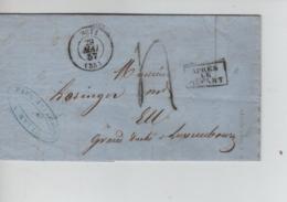 PR7576/ Précurseur LAC Fabrique De Boutons P.Bezanson C.Metz 1857 Port 4 Gff Après Départ > Gd Duché Luxembourg - Marcophilie (Lettres)