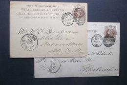 Great Britain: 1882 & 1884 Postal Cards To Berlin, Etc. (#RU4) - Interi Postali