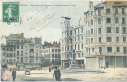 CPA 42 SAINT-ETIENNE - Monument Jules Janin AV. Président Faure Hôtel Moderne En Construction Actuel Square Massenet - Saint Etienne