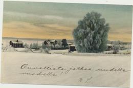 77-1128 Finland Russia Postal History Postcard Painting - Non Classificati