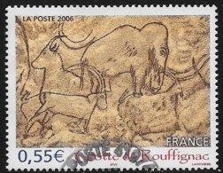 TIMBRE N° 3905   -    TABLEAU GORGES DE ROUFFIGNAC     - OBLITERE  -  2006  - - Francia