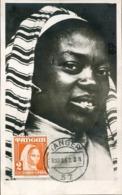 48698 Tanger  Spain Post ! Maximum 1952  Postmark Tanger, Woman, - España