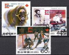 Korea-Nord 1987  Mi.nr: 2849-2851 Winterspiele Calgary  Oblitérés / Used / Gestempeld - Winter 1988: Calgary