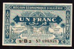 ALGERIE: Billet De 1F Bleu. Date: 1944. N° 98 A Série B2. Neuf - Algérie