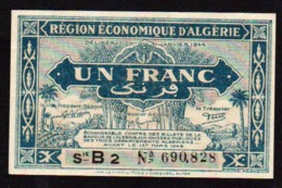 ALGERIE: Billet De 1F Bleu. Date: 1944. N° 98 A Série B2. Neuf - Algeria