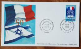 FDC 1999 - YT N°3217 - RELATIONS DIPLOMATIQUES FRANCE ISRAEL - PARIS - FDC