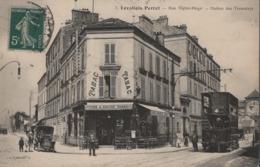 LEVALLOIS-PERRET-Rue Victor-Hugo-station Des Tramways-Beau Plan (Bar-Tabac Privat,tramway Double étage,Austin 15-1909 ? - Levallois Perret