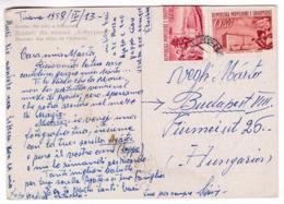 M581 Albania Carte Postale Durres Aux Villas De L'Albturist Posted 1958 Mi 525 Fabrique De Tabac, Shkodër - Albania