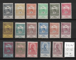 Hongrie - Hungary - Série Complete Neuve Yvert 106-122 - MH Scott#B1-B17 - Hungary