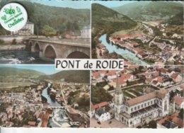 25 - Très Belle Carte Postale Semi Moderne Dentelée De  PONT DE ROIDE   Multi Vues - Other Municipalities