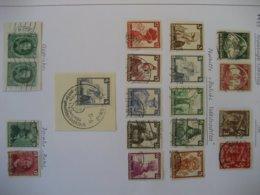 Deutschland/ Deutsches Reich- Reichsparteitag Mi. 586-87, 598-99, Nothilfe 588-97, Mi. 608, Daimler- Benz Mi. 604-605 - Used Stamps
