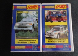 2 K7 VHS - Sport Automobile - Rallye WRC - Peugeot 205 Turbo 16 Audi Lancia - Sport