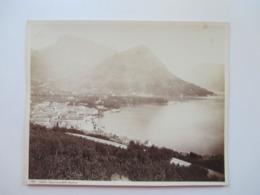 Altes Großes Foto Ca. 1930er Jahre Eventuell älter?? Format 26x21cm Lugano Panorama Dalla Stazione - Lugares