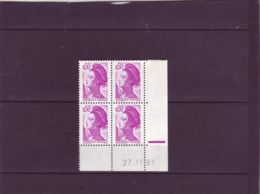 N° 2184 - 0,50F SABINE - 1° Tirage Du 26.11 Au 9.12.81 - 27.11.1981 - - 1980-1989
