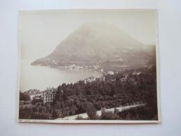 Altes Großes Foto Ca. 1930er Jahre Eventuell älter?? Format 26x21cm Lugano Monte S. Salvatore - Lugares