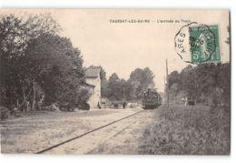 CPA 33 Taussat La Gare Et Le Train Tramway - France