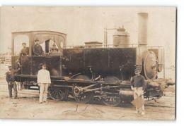 CPA 40 Carte Photo Luxey ? La Gare Et Le Train Tramway - Autres Communes