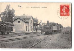 CPA 18 Sancergues La Gare Et Le Train Tramway - Sancergues