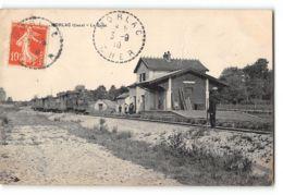 CPA 18 Morlac La Gare Et Le Train Tramway - France