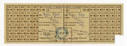 (guerre 39-45) Restrictions Rationnement : Carte De PAIN  Mai Et Juin  THIERS (63 Puy De Dôme) (PPP20909) - Vieux Papiers
