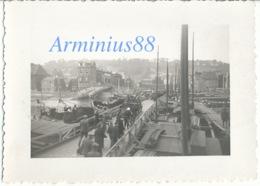 Campagne De France 1940 - Belgique - Liège - Meuse - Pont Maghin Détruit & Pont Flottant - Wehrmacht - Westfeldzug - Guerre, Militaire