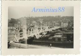 Campagne De France 1940 - Belgique - Liège - Meuse - Pont Maghin Détruit & Pont Flottant - Wehrmacht - Westfeldzug - Guerra, Militari