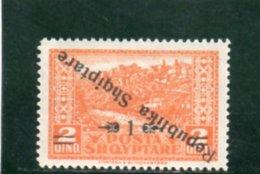 ALBANIE 1925 ** SURCH. RENVERSEE - Albanien