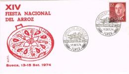 34397. Carta SUECA (Valencia) 1974. Exposicion Filatelica, Fiesta Del ARROZ - 1931-Hoy: 2ª República - ... Juan Carlos I