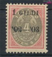 Island 25B Mit Falz 1902 Aufdruckausgabe (9350155 - Islandia