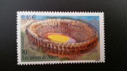 """Timbre  France NEUF** Année 2002 N° YT 3470 """"les Arènes De Nîmes"""" - Francia"""