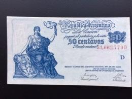 ARGENTINA P259 50 CENTAVOS 1950.1951 UNC - Argentina