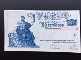 ARGENTINA P259 50 CENTAVOS 1950.1951 UNC - Argentinien