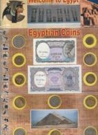 BEAU LOT DE 12 PIECES + 2 BILLETS D' EGYPTE . TOUS DIFFERENTS - Egypte