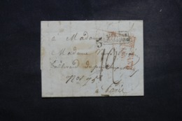 "FRANCE / ALLEMAGNE - Cachet D'entrée "" Bade Par Strasbourg "" Sur Lettre En 1852 - L 45748 - Marcophilie (Lettres)"