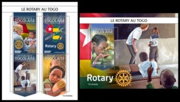 TOGO 2019 - Rotary In Togo, M/S + S/S. Official Issue [TG190406] - Rotary, Lions Club