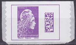 Timbre AA Neuf ** N° 1656(Yvert) France 2019 - Marianne L'Engagée International Adhésif - 2018-... Marianne L'Engagée