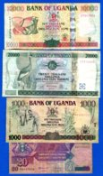Ouganda  4  Billets - Oeganda
