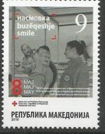 MK 2018-ZZ180 RED CROSS, MACEDONIA, 1 X 1v, MNH - Macédoine