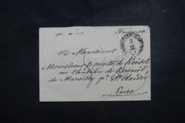"""FRANCE / ALLEMAGNE - Cachet D'entrée """" Tour T. / Erquelines """" En Bleu Sur Enveloppe - L 45750 - Poststempel (Briefe)"""