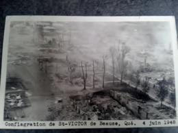 Cpa Conflagration St Victor  De Beauce Quebec 4 Juin 1948 - Quebec