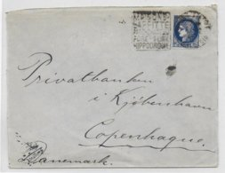 1938 - CERES TYPE 1938 - ENVELOPPE Avec DAGUIN De MAISONS-LAFFITTE => COPENHAGUE (DANEMARK) - HIPPODROME - Marcophilie (Lettres)