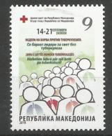 MK 2018-ZZ181 RED CROSS T B C, MACEDONIA, 1 X 1v, MNH - Macédoine
