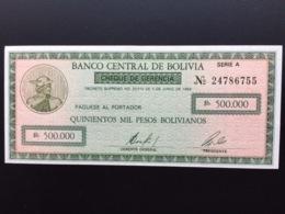 BOLIVIA P189 500000 PESOS BOLIVIANOS 1984 UNC - Bolivien