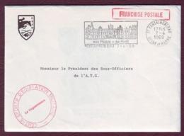 FRANCE - 1989 Invitation à La Réunion Des Présidents Des Sous-Officiers En FRANCHISE POSTALE / Fontainebleau - Postmark Collection (Covers)