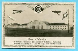 Fest-Karte - 2. Verband-Schiessen Des Armbrust-Schützen-Verbandes 1929 In Dübendorf - ZH Zurich